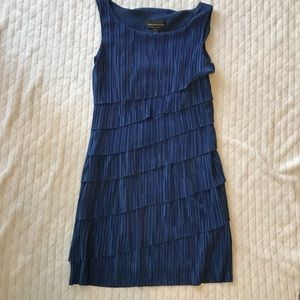 Connected apparel tiered ruffle petite dress sz 8P